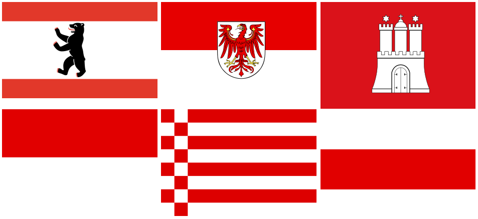 rot/weiß (Berlin,Brandenb.,Bremen,Hamburg,Hessen,Thüringen)
