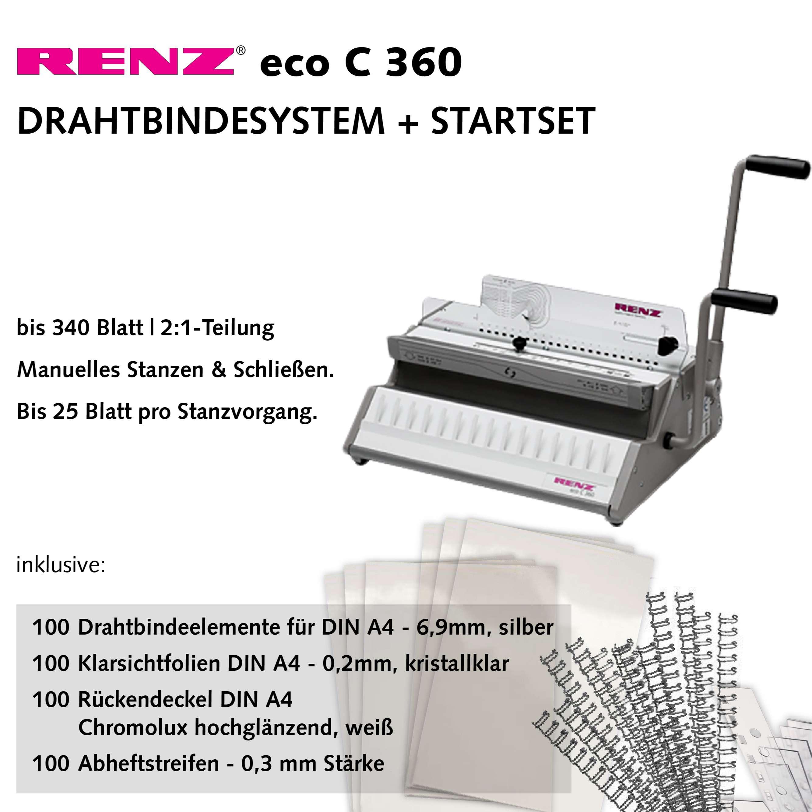 Drahtbindesystem Renz eco c360 - Startset