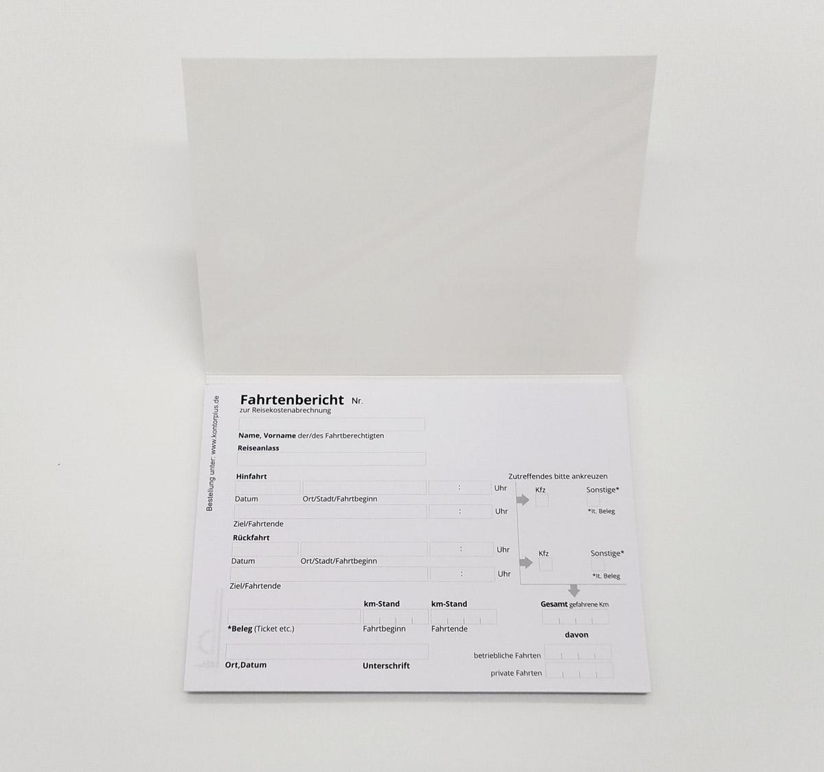 Fahrtkostenbericht-Block A6