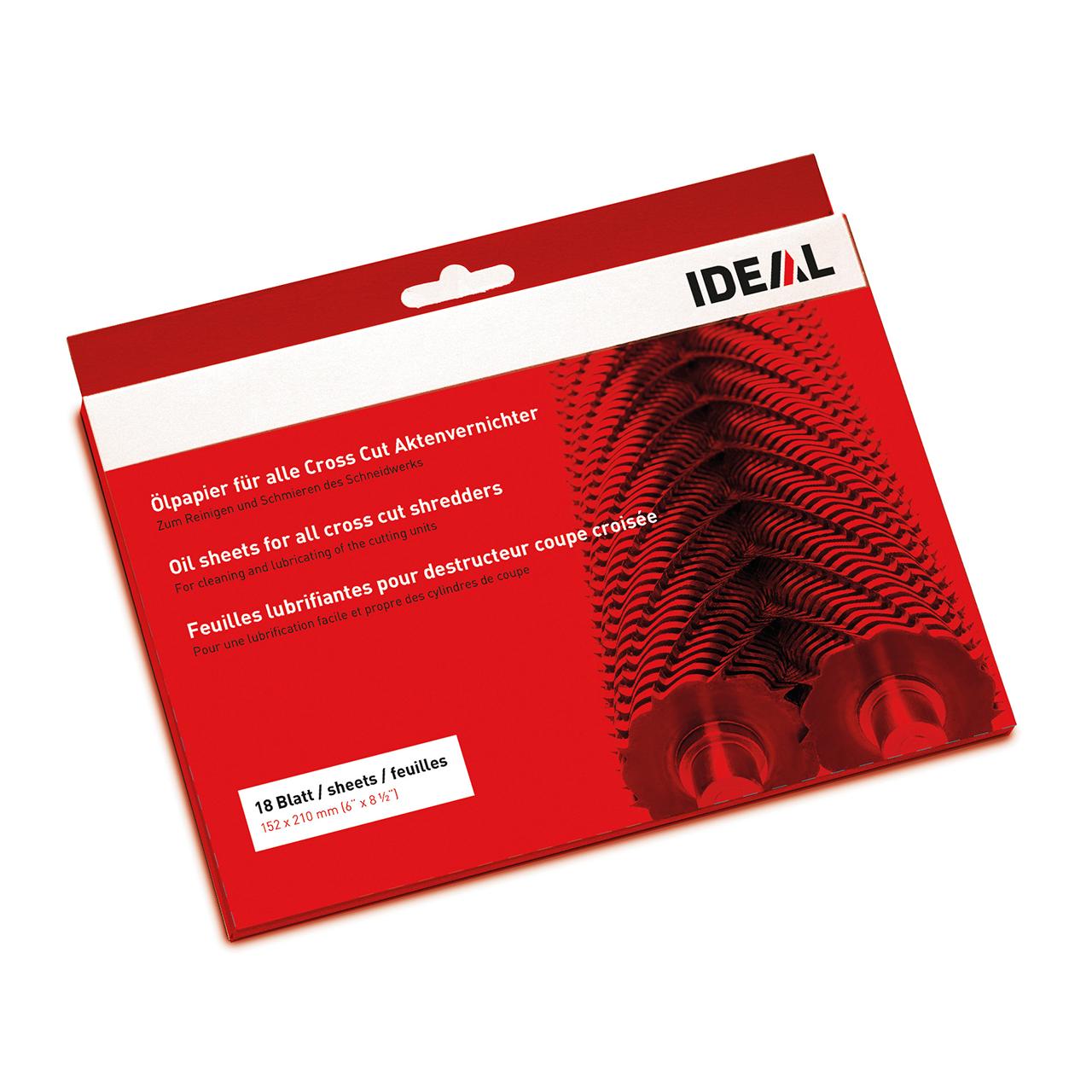 Ölpapier für verschiedene IDEAL Aktenvernichter