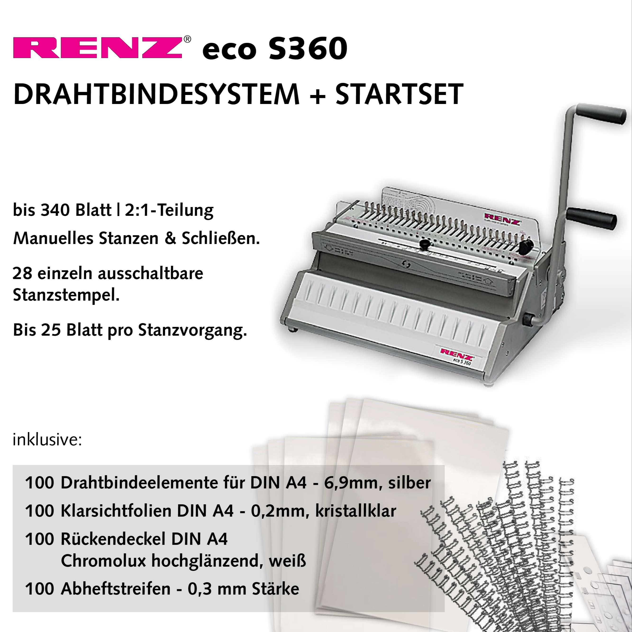 Renz eco S360 Bindesystem - Starterset