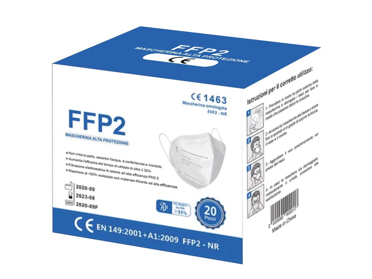 FFP2 Schutzmaske 10-Stück CE 1463 zertifiziert | 4-lagig