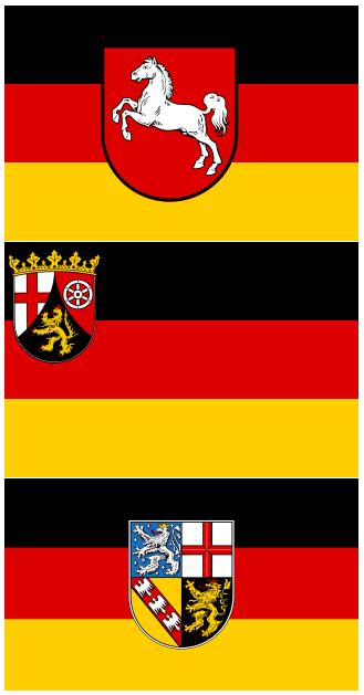 schwarz/rot/gold (Niedersachsen,Rheinland-Pfalz,Saarland)