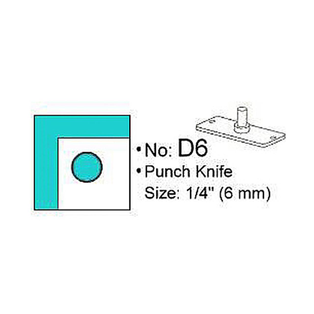 Stanzmesser D6 für Eckenrunder M70